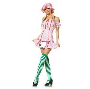 Strawberry girl Halloween costume